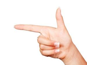 人差し指と親指