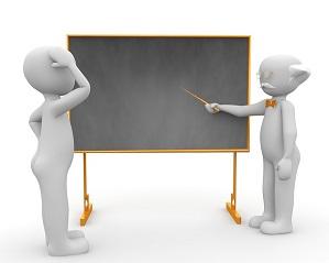 黒板で生徒に性教育する先生