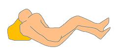 左側位の体勢のイラスト