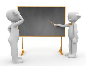 先生と黒板と生徒