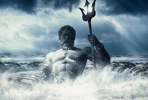 神々しい波しぶきと伝説の神様
