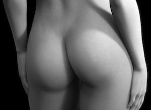 ナイスヒップの白黒写真