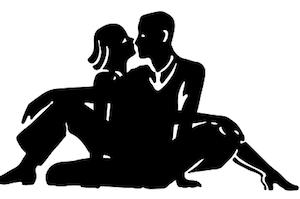 向かい合う男性と女性